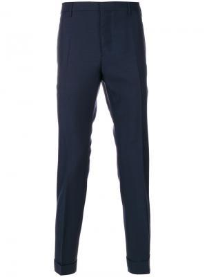Классические брюки Valentino. Цвет: синий