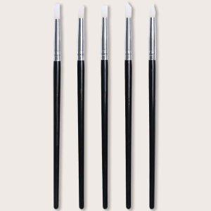 5шт Ручка для снятия лака SHEIN. Цвет: чёрный
