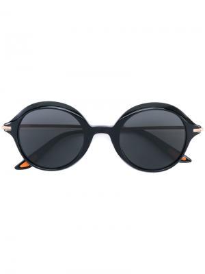 Солнцезащитные очки в круглой оправе Christian Roth Eyewear. Цвет: черный