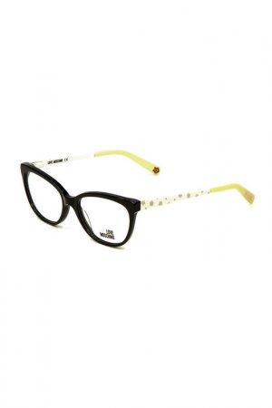 Оправа корригирующая Moschino. Цвет: 01 черный, белый, желтый