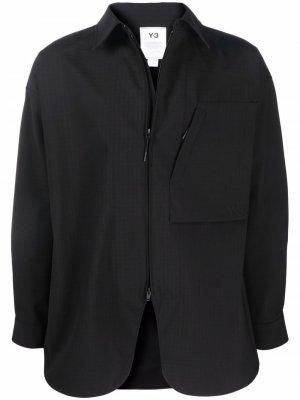 Куртка-рубашка с накладным карманом Y-3. Цвет: черный