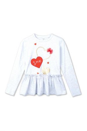 Блуза PlayToday. Цвет: светло-серый, красный