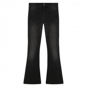 Расклешенные джинсы Designers, Remix girls. Цвет: чёрный