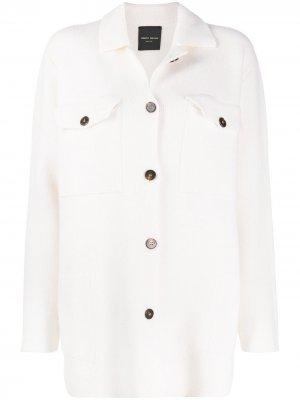 Рубашка с карманами Roberto Collina. Цвет: белый