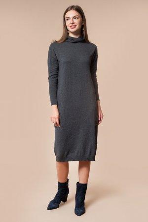 Платье вязаное VILATTE. Цвет: темно-серый