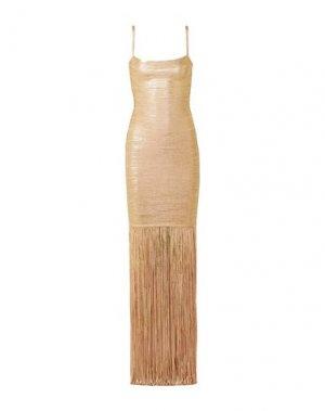 Короткое платье HERVÉ LÉGER. Цвет: золотистый