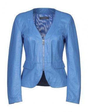 Куртка SANDRO FERRONE. Цвет: лазурный