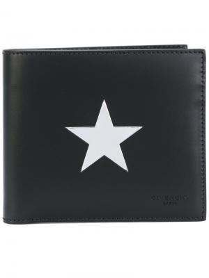 Визитница с элементом звезды Givenchy. Цвет: черный
