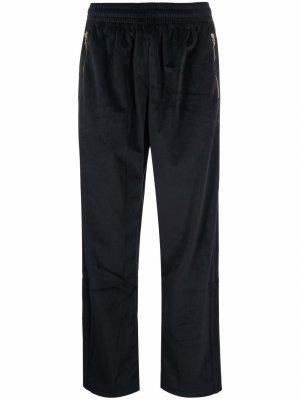 Adicolor velour-effect trackpants adidas. Цвет: черный