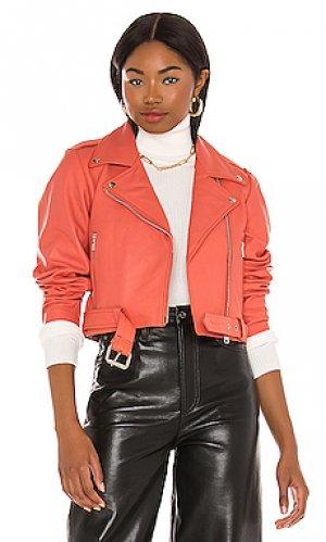 Куртка scrunch Understated Leather. Цвет: розовый