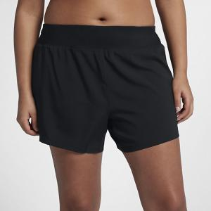 Женские беговые шорты Eclipse 12,5 см (большие размеры) Nike. Цвет: черный