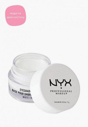 Праймер для век Nyx Professional Makeup Eye Shadow Base, оттенок 01, White, 7 г. Цвет: белый