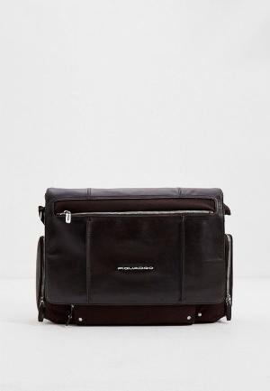 Портфель Piquadro. Цвет: коричневый
