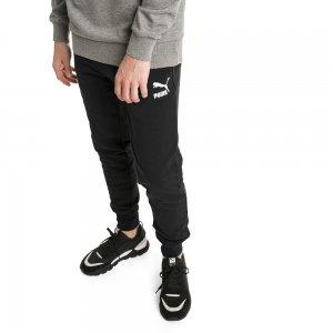 Штаны Classics Sweat Pants Cuffs PUMA. Цвет: черный