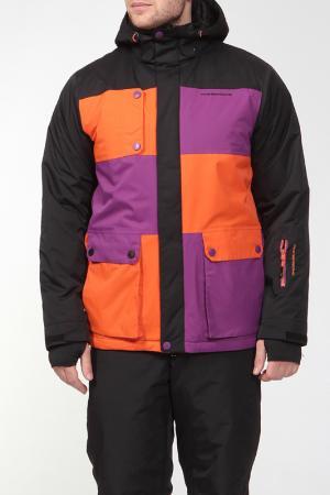 Сноубордическая куртка STEVEN Five seasons. Цвет: черный
