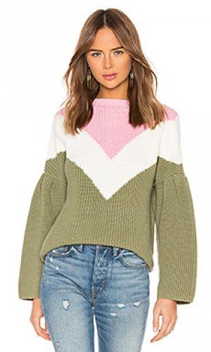 Пуловер kamryn Lovers + Friends. Цвет: оливковый