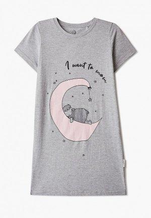 Сорочка ночная Ruz Kids. Цвет: серый