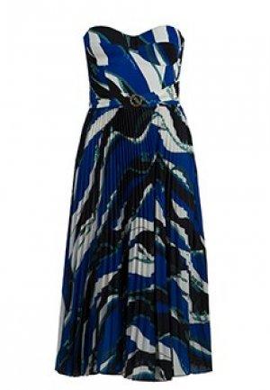 Платье ELISABETTA FRANCHI. Цвет: синий