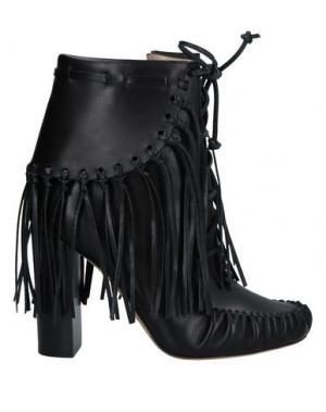 Полусапоги и высокие ботинки ELIE SAAB. Цвет: черный
