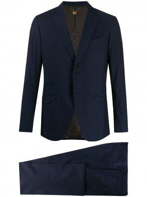 Костюм с однобортным пиджаком Maurizio Miri. Цвет: синий