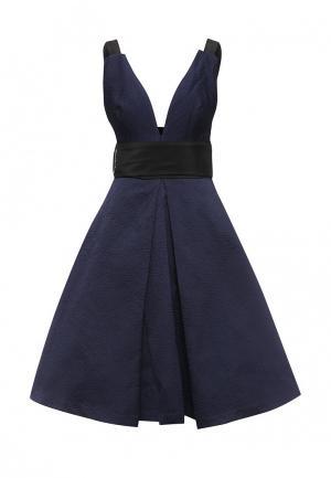 Платье LOST INK THE LABEL - AINE STRAPPY BACK DRESS. Цвет: синий
