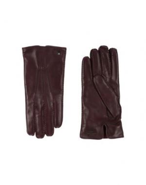Перчатки VALENTINO GARAVANI. Цвет: темно-коричневый