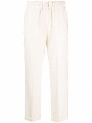 Укороченные брюки с завышенной талией Alysi. Цвет: нейтральные цвета