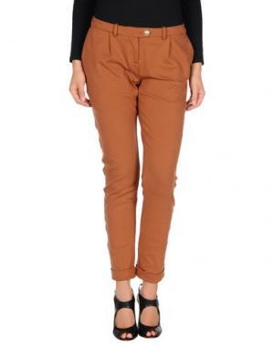 Повседневные брюки PAOLO PECORA. Цвет: коричневый