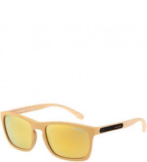 Солнцезащитные очки в пластиковой оправе Burnside Arnette. Цвет: желтый