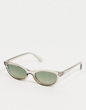 Серые квадратные солнцезащитные очки в стиле 90-х с дымчатыми стеклами -Серый ASOS DESIGN