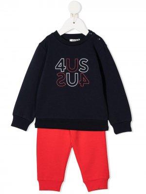 Спортивный костюм с логотипом Cesare Paciotti 4Us Kids. Цвет: синий