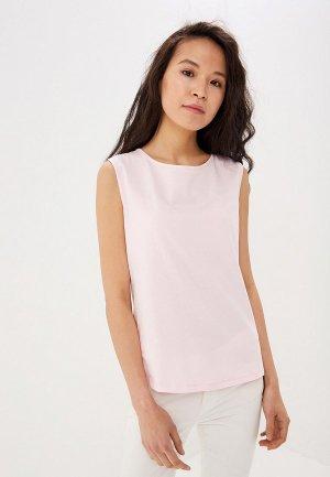 Майка Sisley. Цвет: розовый