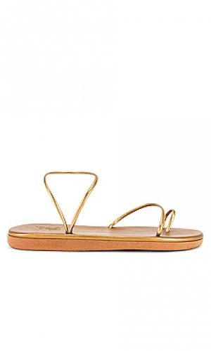 Сандалии kansiz Ancient Greek Sandals. Цвет: металлический бронзовый