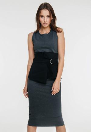 Платье Elena Andriadi MP002XW1H85J. Цвет: серый