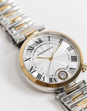 Двухцветные часы-браслет BCBG Max Azria-Серебристый MaxAzria