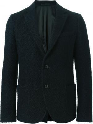 Тканый пиджак Ermanno Scervino. Цвет: чёрный