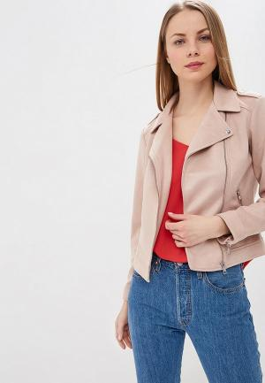 Куртка кожаная Dorothy Perkins. Цвет: розовый