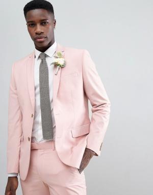 Розовый пиджак зауженного кроя Farah Smart