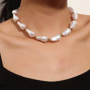 Ожерелье из искусственных жемчугов SHEIN. Цвет: белый