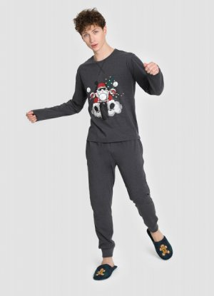 Пижама O`Stin. Цвет: темно-серый