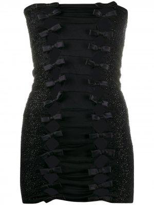 Платье 2000-х годов с открытыми плечами Gianfranco Ferré Pre-Owned. Цвет: черный