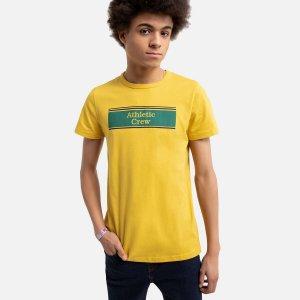 Футболка La Redoute. Цвет: желтый