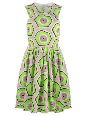 Платье с принтом Carven. Цвет: разноцветный