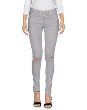 Джинсовые брюки AG JEANS. Цвет: серый