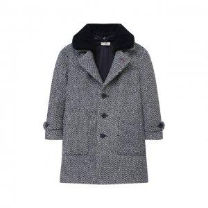 Пальто для мальчика Zhanna & Anna. Цвет: синий