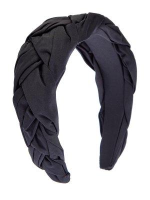Ободок из тафты с эффектом плетения REDVALENTINO. Цвет: черный