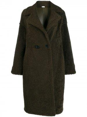 Двустороннее двубортное пальто Liska. Цвет: зеленый