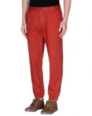 Повседневные брюки FRESHJIVE. Цвет: кирпично-красный