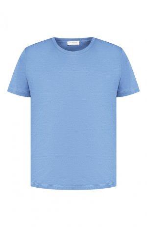 Хлопковая футболка Bilancioni. Цвет: голубой