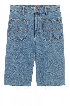 Джинсовые шорты Sandro. Цвет: голубой